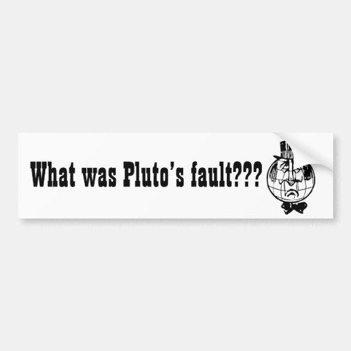 The Planet Pluto Bumper Sticker
