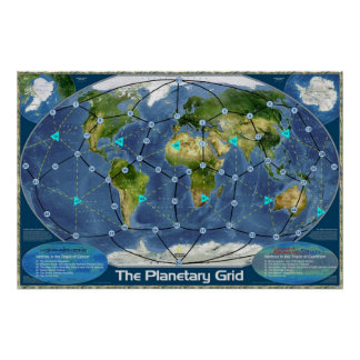 The Planetary Grid Poster
