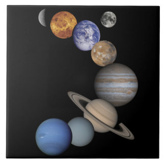 The Planets of our Solar System Decorative Tile