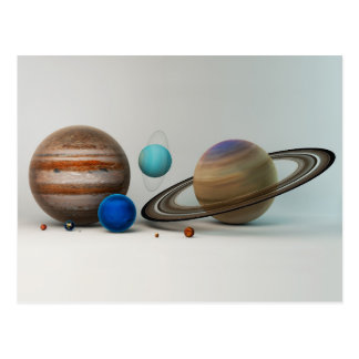 The Planets of Our Solar System Postcard