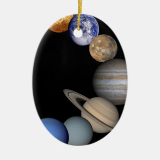 The planets of the solar system. ceramic ornament