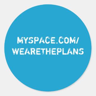 The Plans Round Sticker