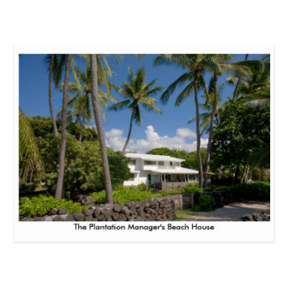 The Plantation Manager's Beach House Postcard