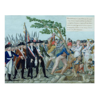 The Planting of a Tree of Liberty, c.1789 Postcard