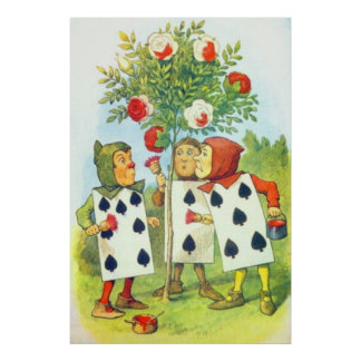 The Playing Cards Painting the Roses Full Color Poster