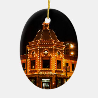 The Plaza Lights of Kansas City Ceramic Oval Decoration