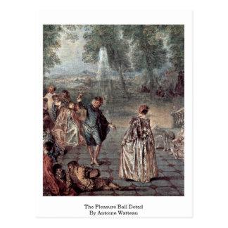 The Pleasure Ball Detail By Antoine Watteau Postcard