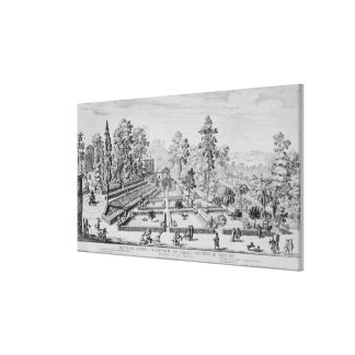The pleasure garden and Pavilion of Pope Pius IV ( Canvas Print