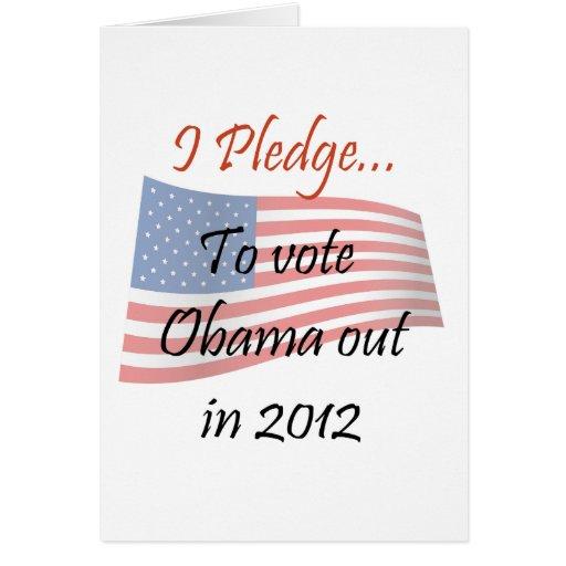 The Pledge - Obama Vote Greeting Cards