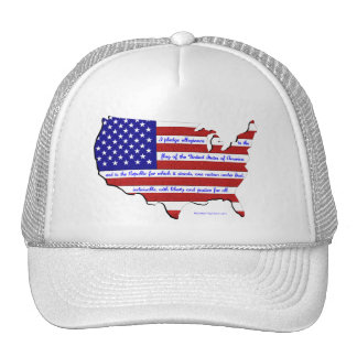 The Pledge of Allegiance Trucker Hats