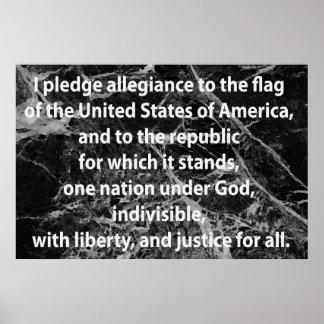 The Pledge of Allegiance Poster