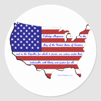 The Pledge of Allegiance Round Sticker