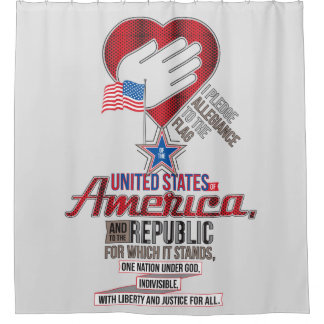 The Pledge of Allegiance Shower Curtain