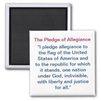 The Pledge of Allegiance Square Magnet