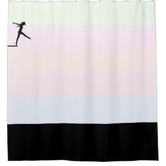 The Plunge - Diver on Deck Shower Curtain