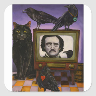 The Poe Show Square Sticker