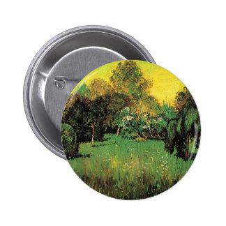 The Poet s Garden by Vincent van Gogh Pinback Buttons