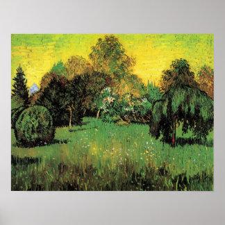 The Poet's Garden by Vincent van Gogh. Poster