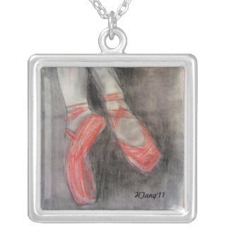 the pointe silver plated necklace