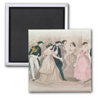 The Polka Fashions, from Godey's Lady's Book Magnet