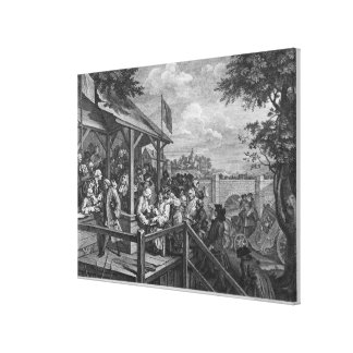 The Polling, 1758 Canvas Print