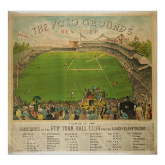 The Polo Grounds Baseball Stadium in 1887 Poster