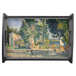The Pond by Paul Cezanne Serving Tray