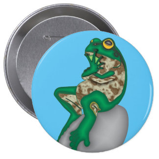 THE PONDER FROG 10 CM ROUND BADGE