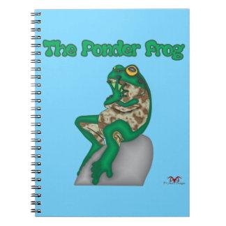 THE PONDER FROG SPIRAL NOTEBOOKS