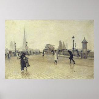 The Pont Corneille, Rouen, 1891 Poster