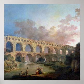 The Pont du Gard, Nimes, c.1786 Poster