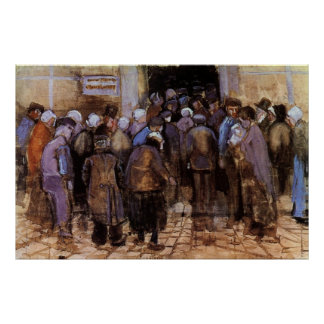 The poor and money by Vincent van Gogh Print