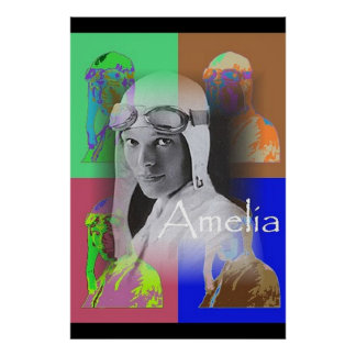 The Pop-Art Amelia Poster