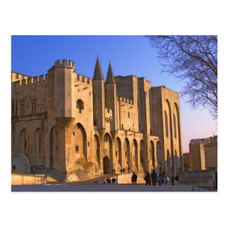 The Pope's Palace in Avignon with people Postcard