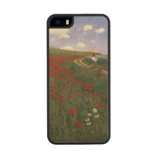 The Poppy Field Carved® Maple iPhone 5 Case