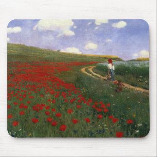 The Poppy Field Mouse Pad
