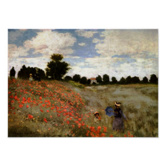 The Poppy Field near Argenteuil by Claude Monet Poster