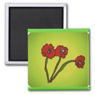 the poppy fridge magnets