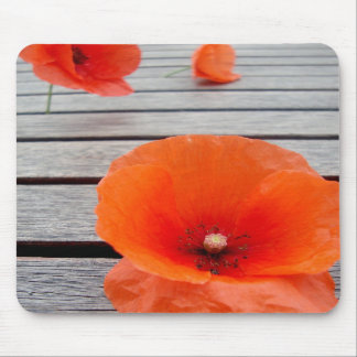 The poppy mouse pad