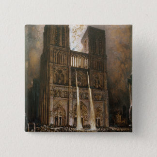 The Populace Besieging Notre-Dame 15 Cm Square Badge