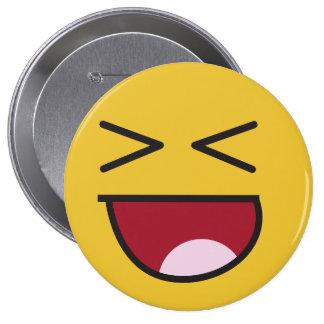The popular LOL emoji 10 Cm Round Badge