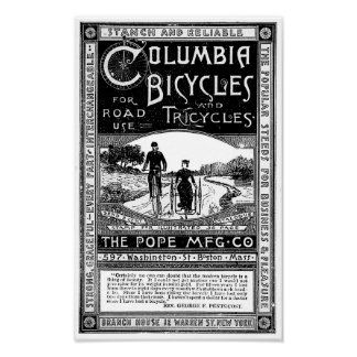 The Popular Steeds - Victorian Bicycle Advert Poster