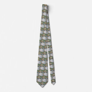 The Port, Nice by Berthe Morisot, Vintage Fine Art Tie