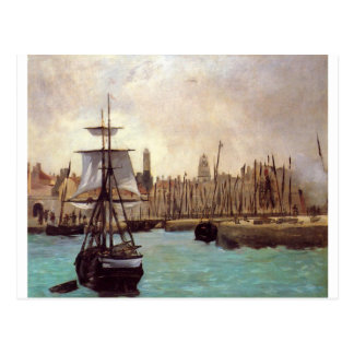 The Port of Bordeaux by Edouard Manet Postcard