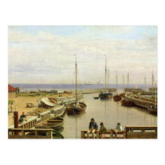 The Port of Dragor, 1826 Postcard