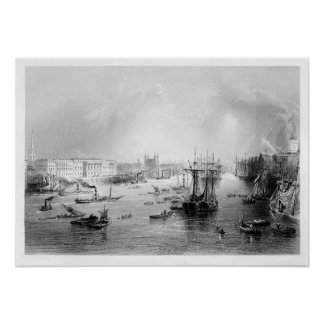 The Port of London 1840 Poster