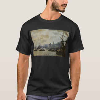 The Port of London by Claude Monet T-Shirt