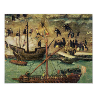 The Port of Seville, c.1590 Poster