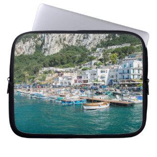 The port of the dream island of Capri Laptop Sleeve