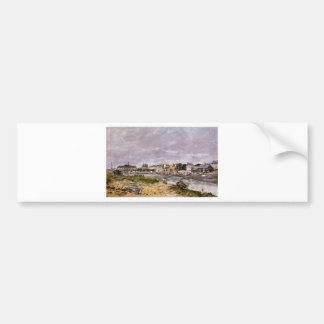 The Port of Trouville by Eugene Boudin Bumper Sticker